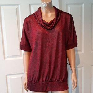 Elbow Sleeve Cowl Neck Pullover Top  Size 14 / 16